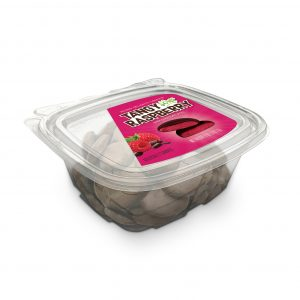 Tangy Sour Raspberry Dark Chocolate Bites Tub